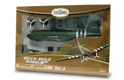 Testors 1/48 DC-3 Airplane Green - te650015