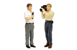 TSM 1/18 Reporter/Camera Man (Pair) - tsm13ac13