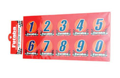 Futaba Racing Numbers(3Sets Of 0~9) - u-fdec-20