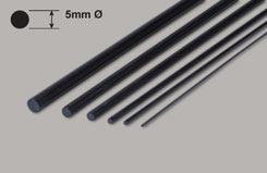 Carbon Fibre Rod - 5X1000Mm - w-cr501000