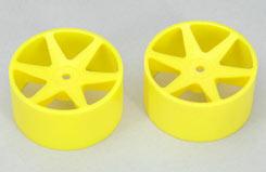 Fr Wheel-6 Spoke/Yel/1:10 (Pk2)Foam - z-ceng84230y
