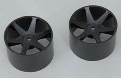 Wheel-6 Spoke/Black/1:10 (Pk2) Foam - z-ceng84231b