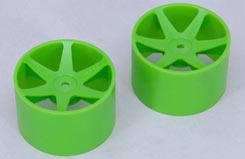 Cen Rear Wheels Green - z-ceng84231g