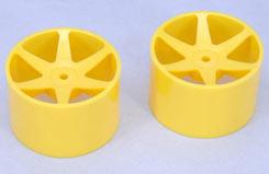 Wheel-6 Spoke/Yellow/1:10 (Pk2)Foam - z-ceng84231y