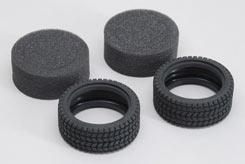 Tyre Rally W/Inner Foam (Pk2) 1:10 - z-cenmg207