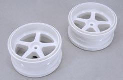 Wide Wheel 1:6 White (Pk2) - z-fg06105-1