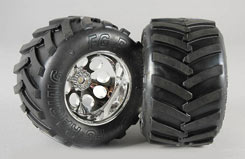 Wheel/Tyre Monster Trk M (Gluedpk2) - z-fg06228-6