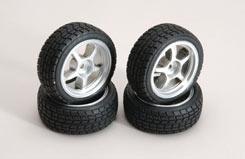 Silver Wheel W/Tread Tyre Pk4 - z-rmx-4ts