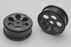Wheel - 6-Shot/Black/Pk2 - Rail - z-xtm148664