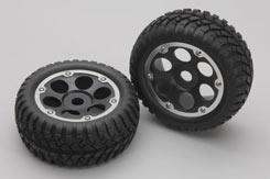 Desert Tyre W/6-Shot Wheel(Pk2)Rail - z-xtm148666