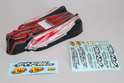 Red/Carbon Body Shell Rail - z-xtm148723
