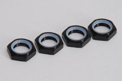 Locking Wheel Nut - 17Mm/Black/Pk4 - z-xtm149599