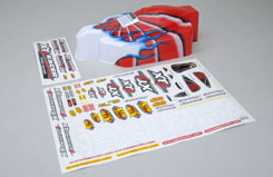 Bodyshell & Decal Set Painted Red/W - z-xtm149962