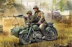 Zveda 1/35 Soviet Motorcycle M-72 - z3651